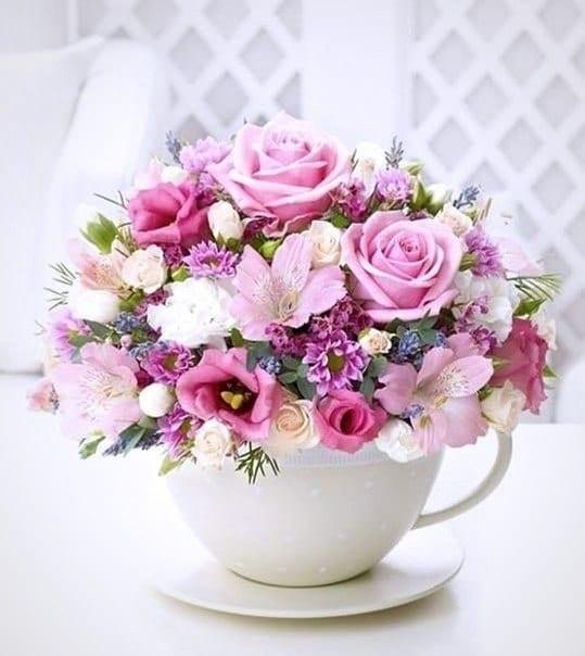 Открытки к дню рождения красивые цветы