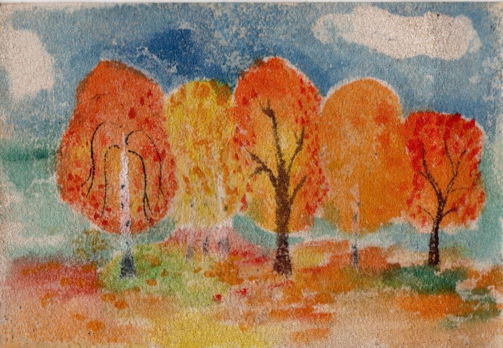 Картина из цветного песка своими руками 378