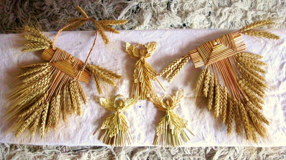 Делаем интерьерную композицию «Колоски пшеницы видео мастер-класс 22