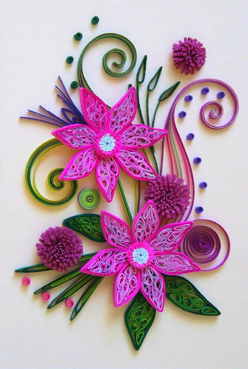 Корзинки для цветов из лент