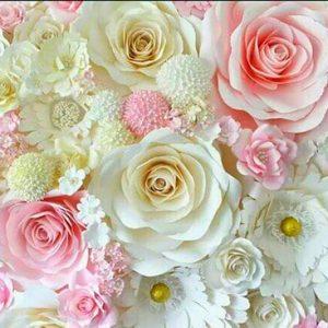Бумажный цветочный стенд 1