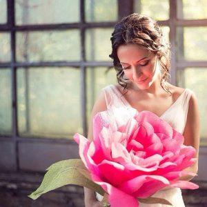 большие бумажные цветы фотосессия
