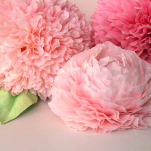 большие бумажных цветов для декора . фотостудия