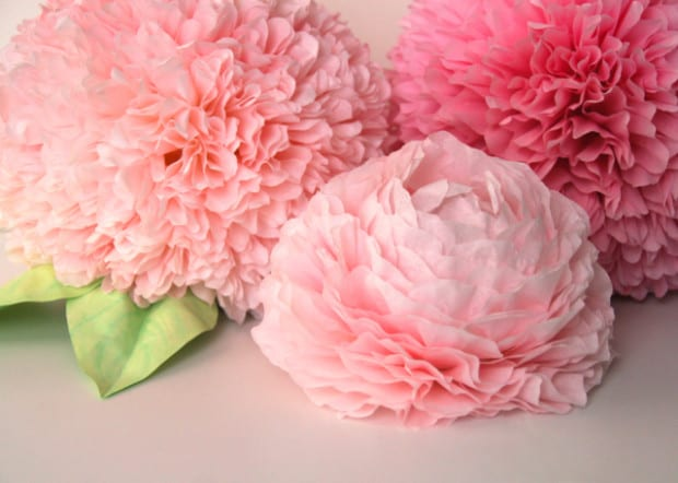 Цветы из гофрированной бумаги своими руками пионы фото 641
