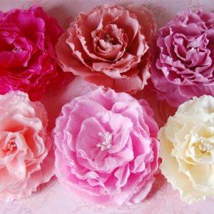 большие бумажных цветов для декора 1