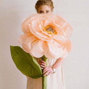 бумажные большие цветы 1