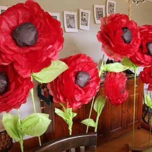 бумажные большие цветы 2