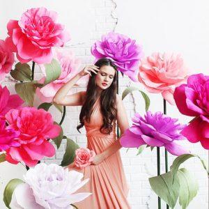бумажные большие цветы 7