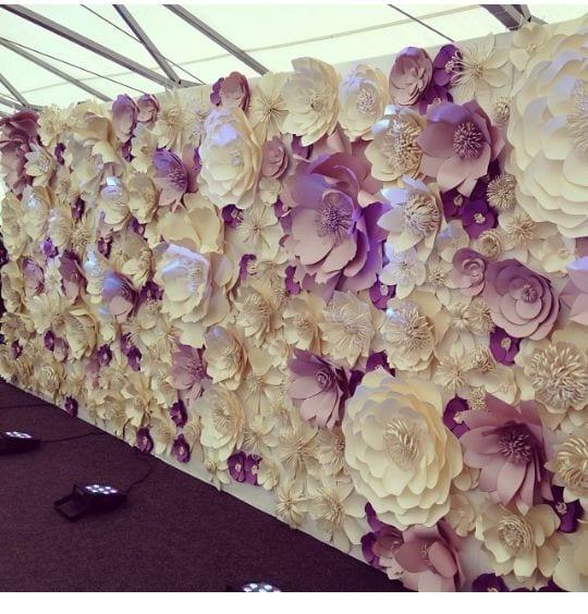 Декор цветами на стене своими руками