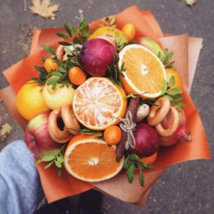 мастер-класс по созданию фруктового букета