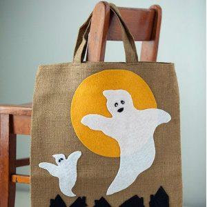 Стильный декор эко-сумки на Halloween 2