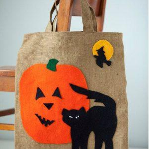 Стильный декор эко-сумки на Halloween 3