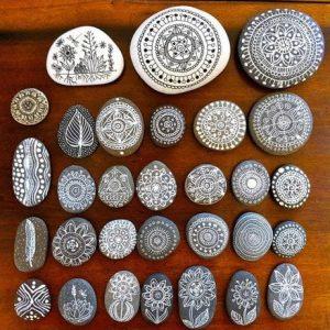 точечная роспись камня для начинающих в киеве 3