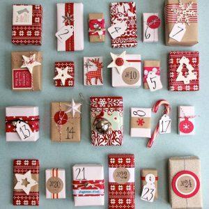 Рождественские календари своими руками 12