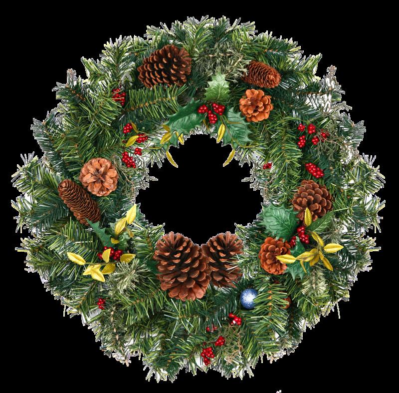 Венок новогодний из елки