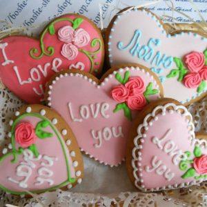 Валентинки-печенье на 14 февраля киев