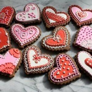 Валентинки-печенье на 14 февраля 1