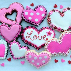 Валентинки-печенье на 14 февраля 3