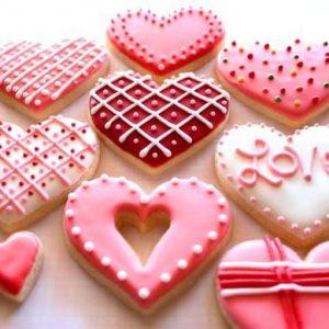 Валентинки-печенье на 14 февраля