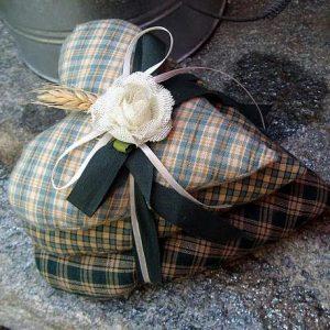 Текстильные сердечки-валентинки 1