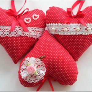 Текстильные сердечки-валентинки 2