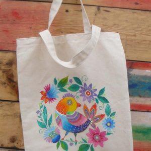 мастер-класс по росписи текстильной сумки 3