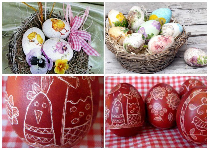 Декупаж и дряпанка вареных яиц