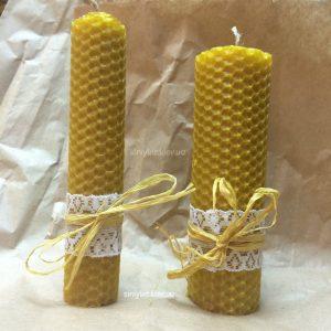 Медовые свечи - эко свечи из вощины 3