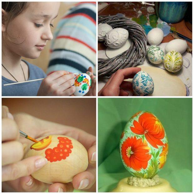 Петриковская роспись деревянных яиц