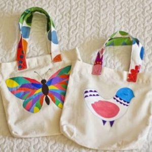 Роспись эко-сумки из хлопка