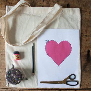 Роспись эко-сумки из хлопка 6