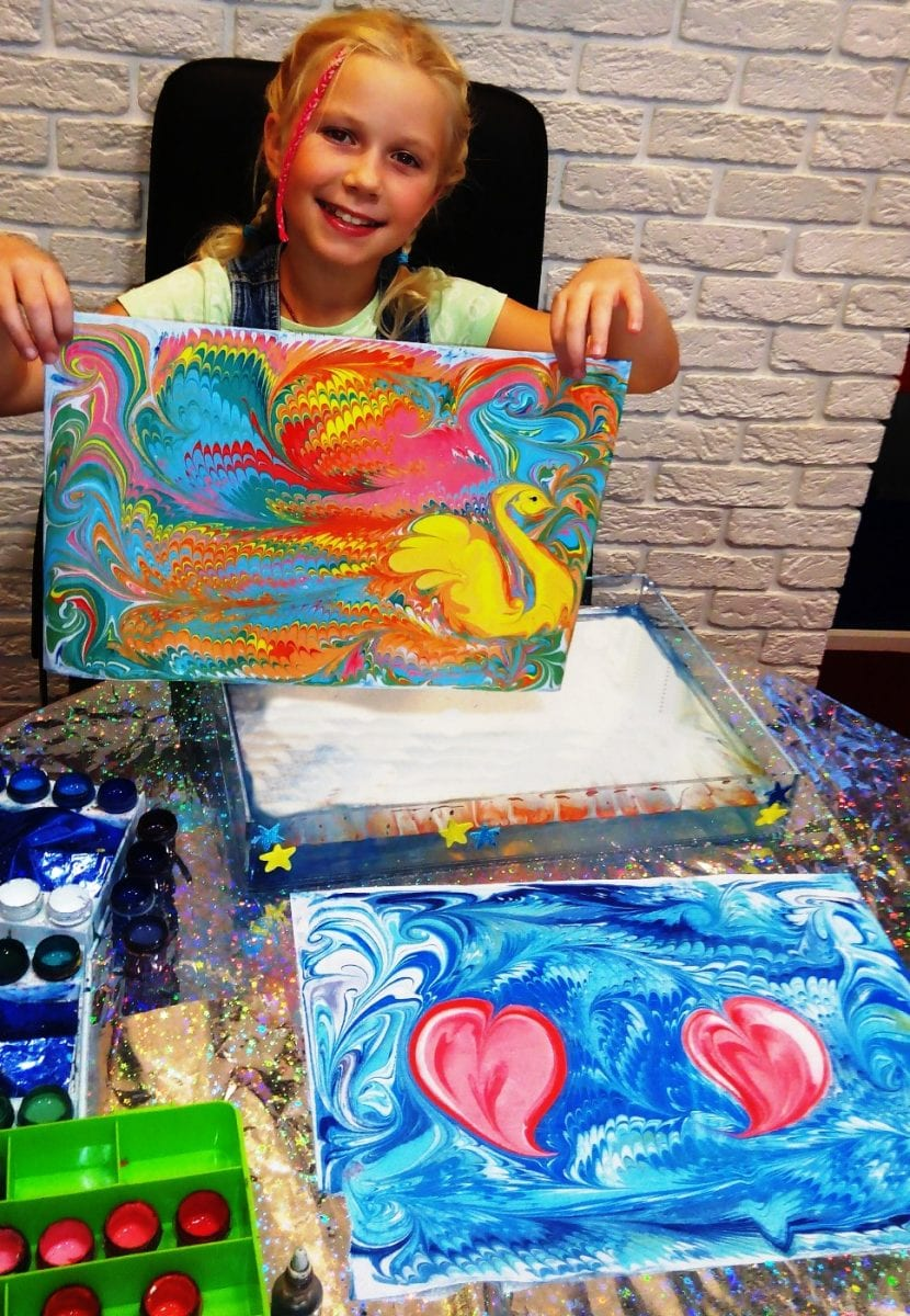 Рисовать по воде красками в домашних условиях 422