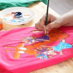 роспись футболки красками киев 1