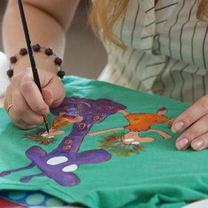 роспись футболки красками киев