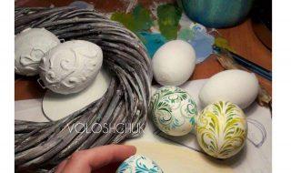 пасхальная роспись выдутых яиц