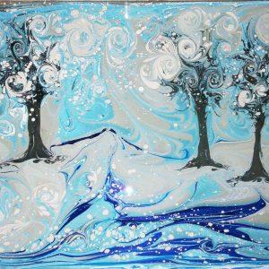 Рисование на воде в киеве