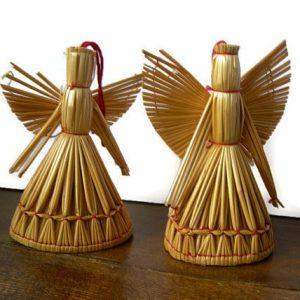 плетение ангелов из соломы на Масляницу
