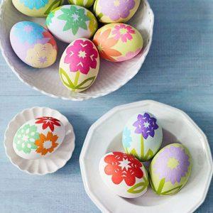 Декоративные пасхальных яйц бумагой