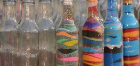 Sand Bottle – рисунки цветным песком в бутылке