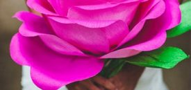 Бумажные цветы как декор на праздник
